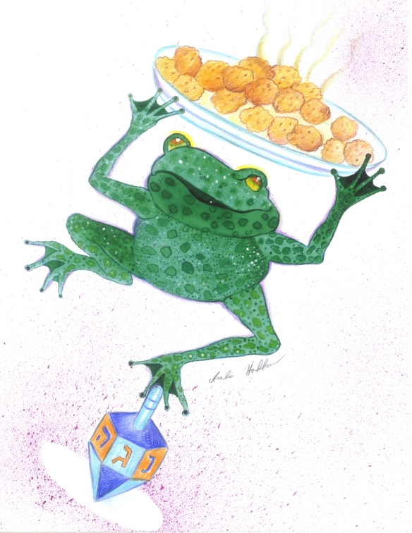 chanukah with frog