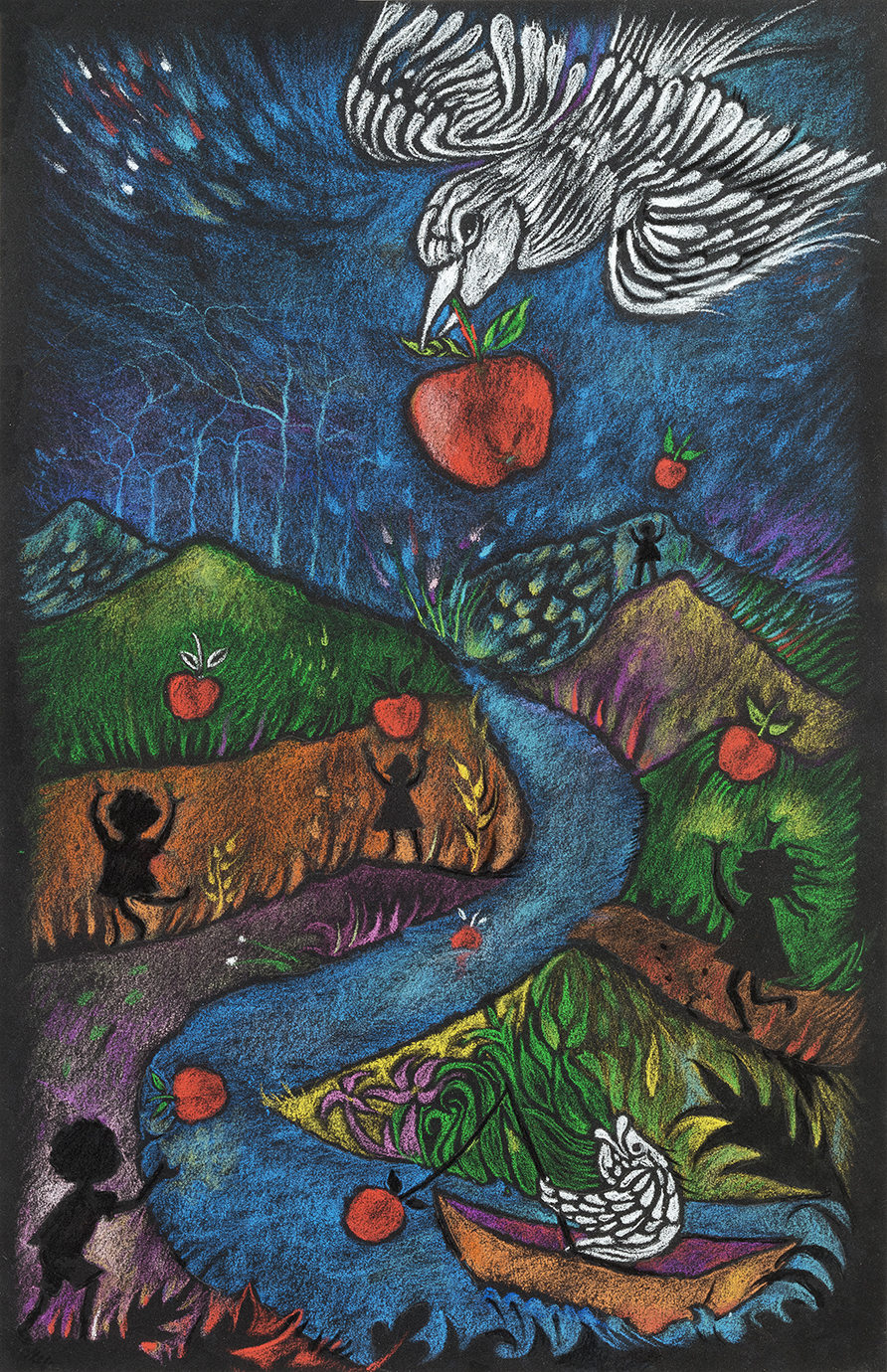Apple Bird by Amalia Hoffman