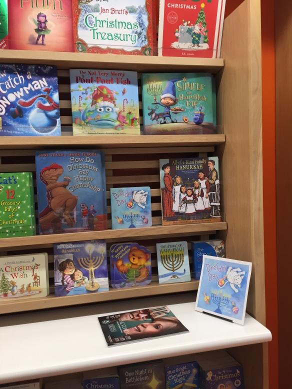 Hanukkah & Xmas display B&N Eastchester