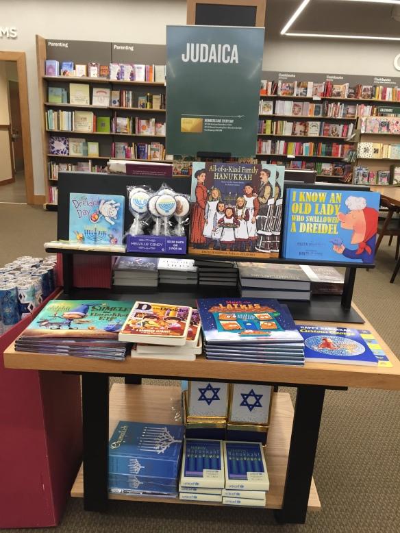 Judaica display B&N Eastchester