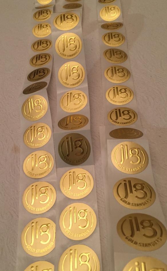JLG gold stickers