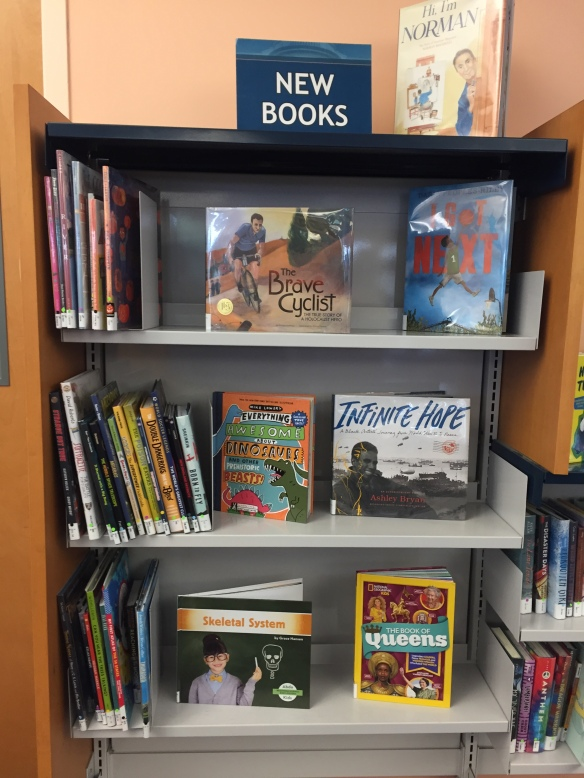 Larchmont library - new books display