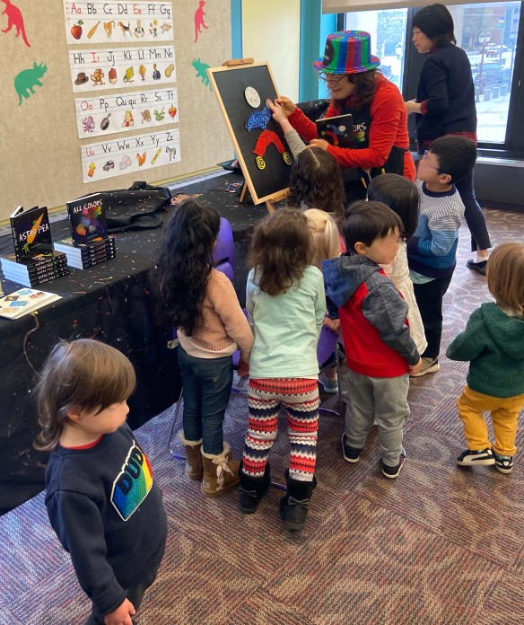 WP library board & kids